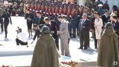 Церемония возложения цветов на Мемориале Славы